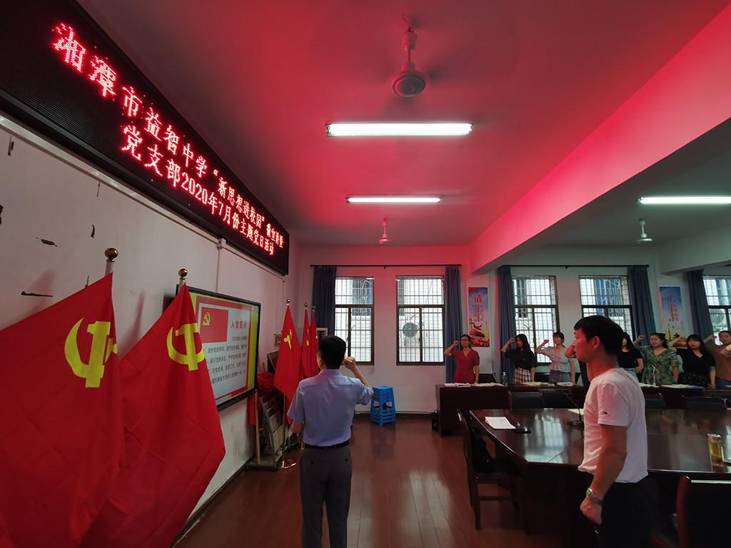 湘潭市益智中学开展七月份主题党日活动
