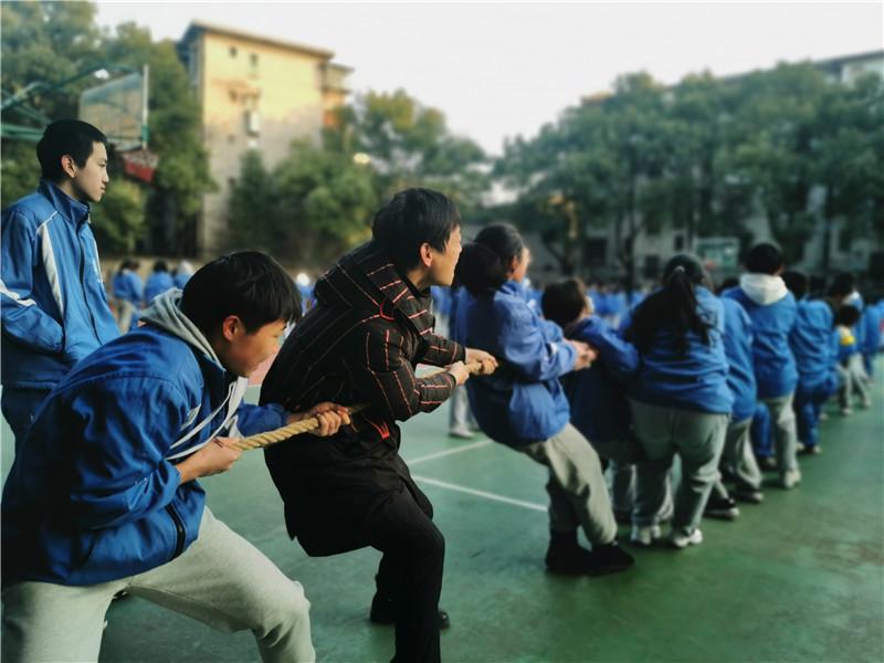 20210103益智:温暖冬日,赛出风采——记湘潭市益智中学九年级拔河比赛